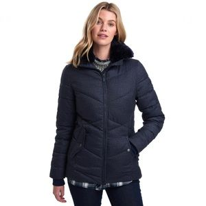 Barbour NWOT Navy Scuttle Quilted Jacket Coat